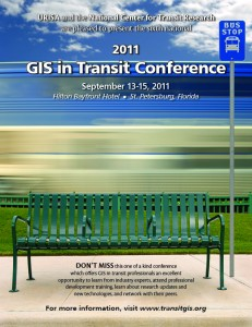 GIS in Transit Conference September 13-15, 2011