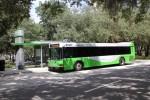 HART bus rapid transit vehicle at a bus stop