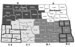 Map for Implementing Transit Coordination in North Dakota